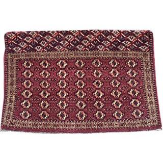 Antique Primitive & Tribal Turkoman Yamout Chuval Rug -2′9″ × 4′