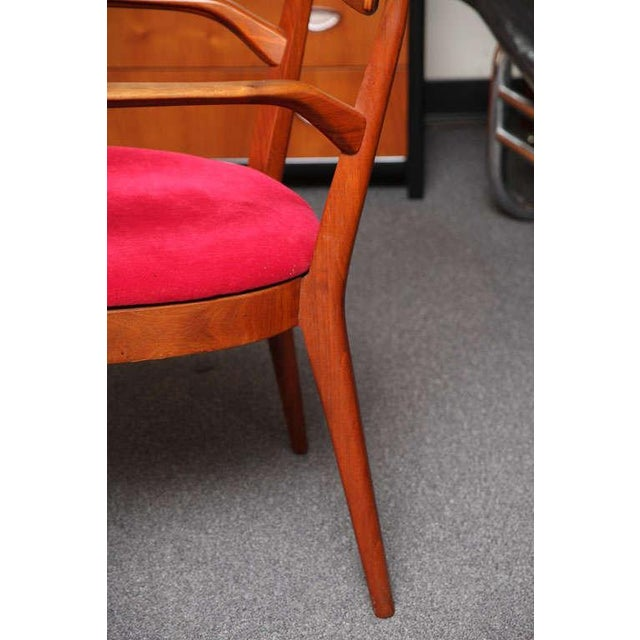 "Mid Century Modern 6 Drexel ""Declaration"" Line Walnut Dining Chairs. 1950s - Image 9 of 9"
