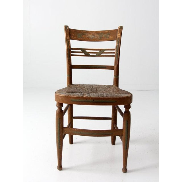 Image of Antique Rush Seat Chair