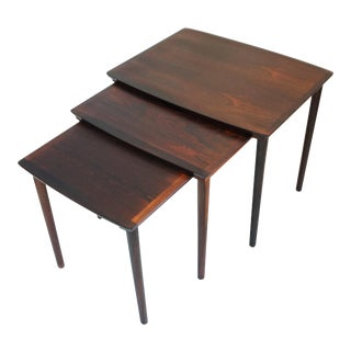 Vintage Rosewood Nesting Tables - Set of 3