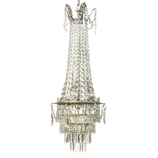 Bohemian Crystal & Nickel Chandelier