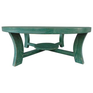 Paul Frankl Green Cerused Coffee Table