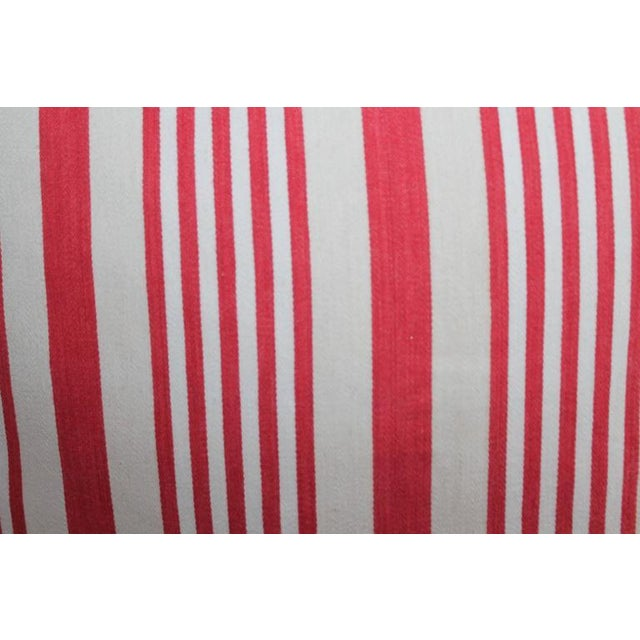 19th Century Red Ticking Pillows, Pair - Image 5 of 8