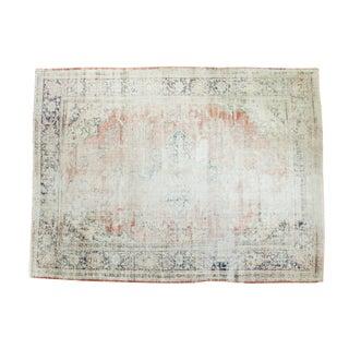 "Vintage Distressed Oushak Carpet - 9'2"" x 12'4"""