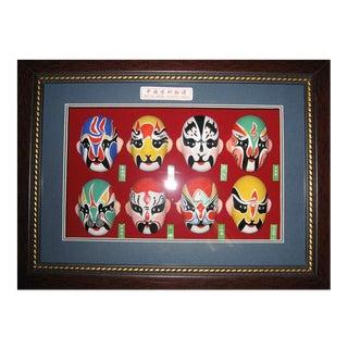 Framed Peking Opera Painted Faces