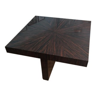 Ribboned Wood Coffee Table