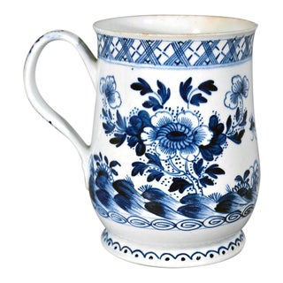 Bow Porcelain Chinoiserie Underglaze Blue Baluster Tankard, Circa 1760-70.