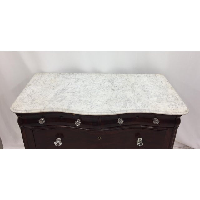 Antique Marble Top Chest of Drawers - Image 4 of 8