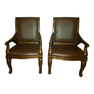 Leather Side Chairs by Hooker Furniture - A Pair