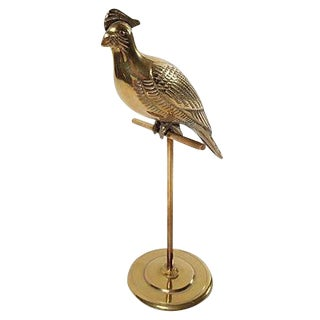 Brass Cockatoo on Stand
