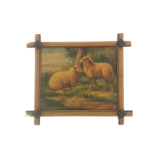 English Pastoral Sheep Painting