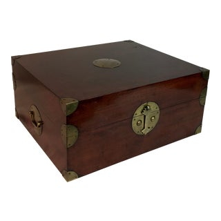 Asian Wood & Brass Box
