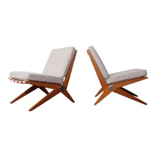 Pair of Knoll Scissor Chairs by Pierre Jeanneret
