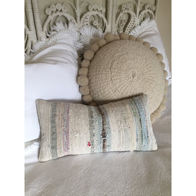 Moroccan Kilim Boho Pastel Pillow Cover - Image 7 of 7