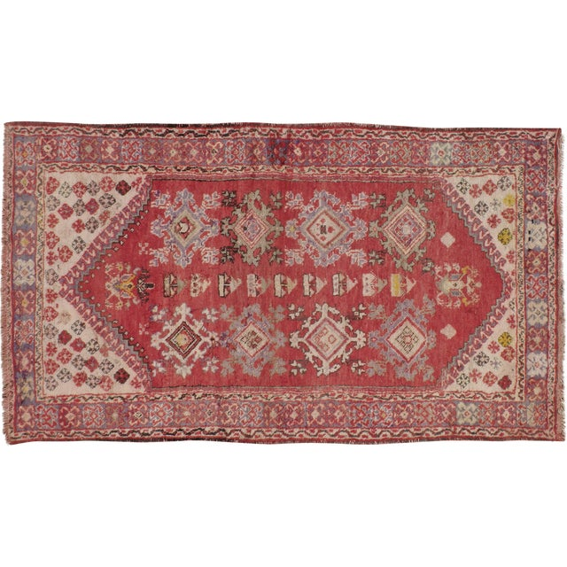 "Turkish Konya Vintage Rug - 3'5"" X 5'10"" - Image 1 of 3"