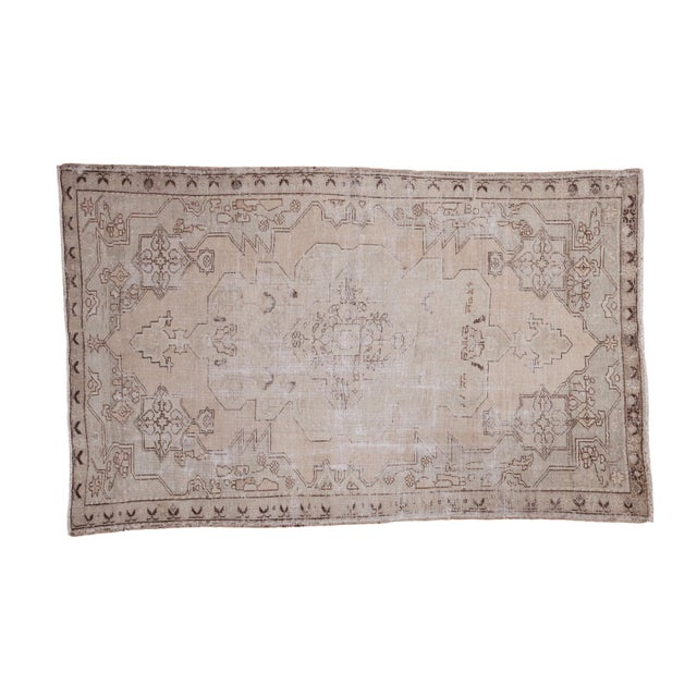 "Distressed Oushak Rug - 4'8"" X 7'5"" - Image 1 of 10"