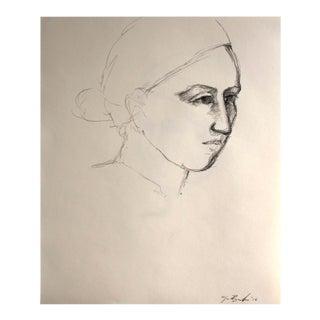 Elizabeth in Profile Drawing
