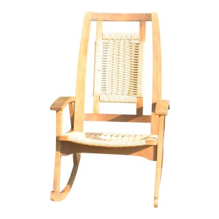 Mid Century Rope Rocking Chair