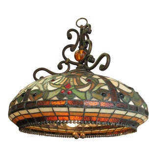 Traditional Stained Glass Chandelier