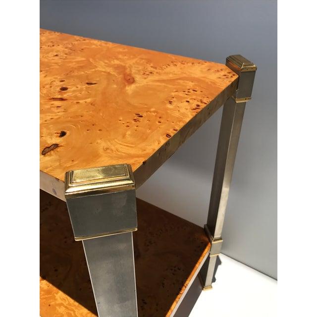 Burlwood Console Table Attributed to Romeo Rega - Image 9 of 11