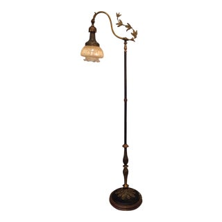 Victorian Black Ivy Floor Lamp