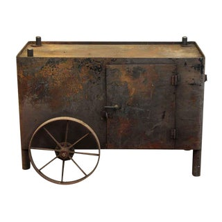 Industrial Cast Iron Console Cart