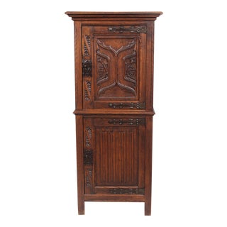 1920s Neo-Gothic Tudor Style Cabinet