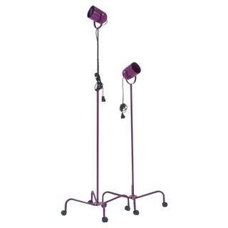 Pair of Verner Panton Adjustable Height, Rolling Panto Beam Floor Lamps
