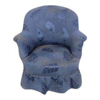 1940s Blue Slipper Chair
