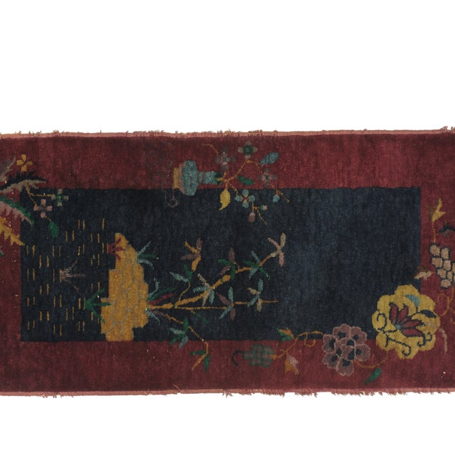 Leon Banilivi Art Deco Chinese Rug - 2′ × 3′10″ - Image 3 of 4