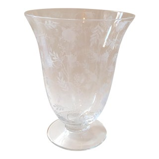 Fostoria Chintz Depression Glass Vase