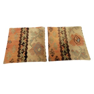 Turkish Kilim Custom Pillows - A Pair