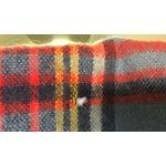 Image of Vintage English Plaid Wool Blanket