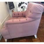 Image of Oversized Custom Mohair Mauve Club Chairs