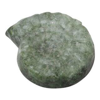 Stone Nautilus Shell Sculpture