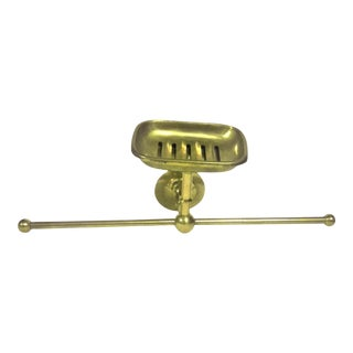 Brass Towel Bar & Soap Dish