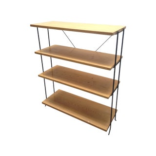 California Modernist Iron and Wood Shelf
