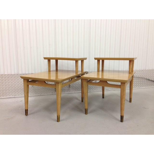 Mid-Century Modern Two-Tiered End Tables - A Pair - Image 5 of 6