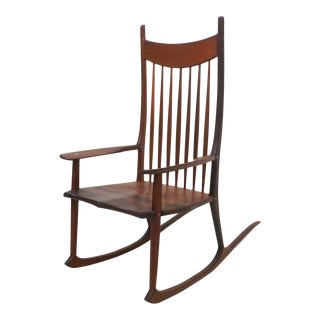 Tall Oversized American Craftsman Rocking Chair