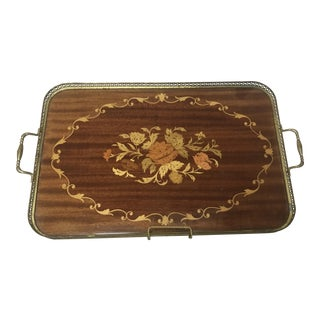 Italian Wood Inlay Serving Tray