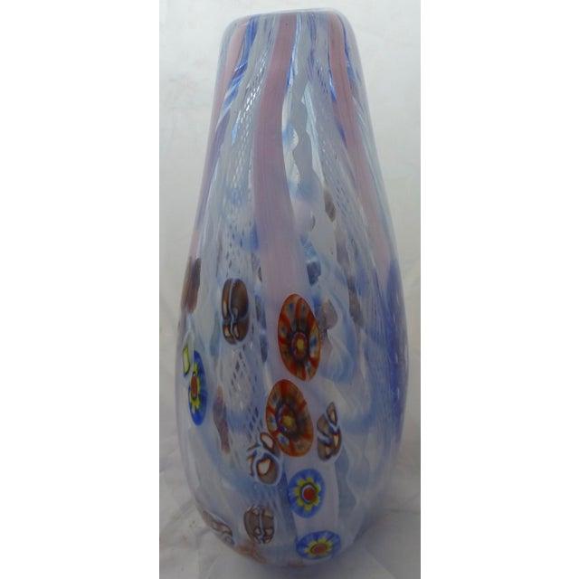 Murano Glass Vase With Milleforia Latticino Cane - Image 5 of 9