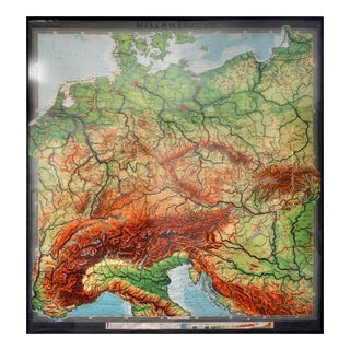 "Filip Hjulstro ""Mellaneuropa"" Map"