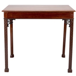 19th-C. Chippendale Mahogany Side Table