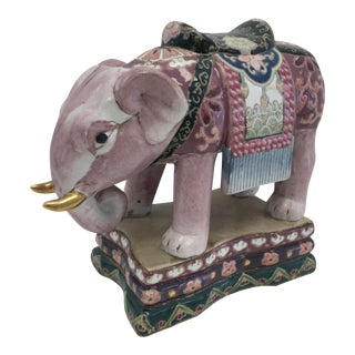 Vintage Elephant With Gold Tusk
