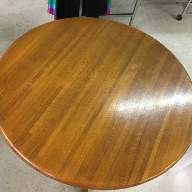 Butcher Block Round Dining Room Table Chairish