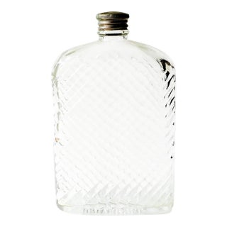 Universal Art Deco Glass Hip Flask