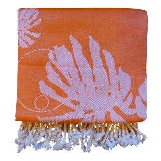 'Rio' Towalla in Coral-Orange Towel/Throw