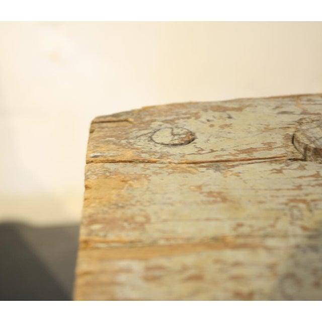 Image of Short Handmade Wood Milking Stool