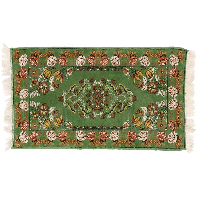 Boho Chic Vintage Moroccan Tribal Rug With Modern