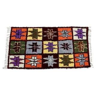 "Moroccan Azilal Wool Rug - 6'6"" X 3'6"""